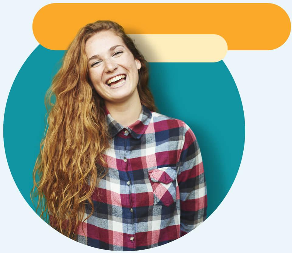 smiling woman hero image